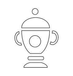 Funeral urn for ashes icon outline style vector image