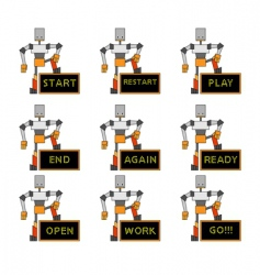 funky robots vector image