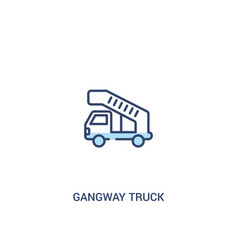 Gangway truck concept 2 colored icon simple line vector