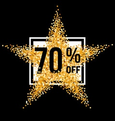 Golden star discount vector