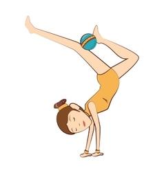 Gymnast girl sport vector