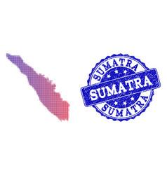 Halftone gradient map of sumatra island and vector