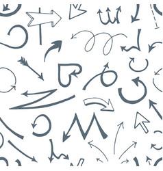 hand drawn sketch of arrows on vector image