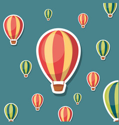 hot air balloons background vector image