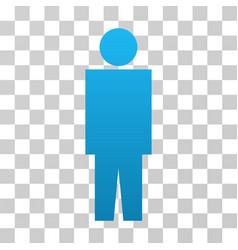 Human person gradient icon vector