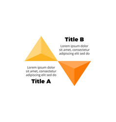 Infographics for 2 steps options presentation vector