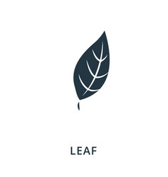 Leaf icon flat style icon design ui vector
