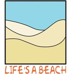 Lifes a Beach vector