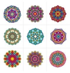 mandala ornaments set vector image