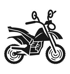 Motocross bike icon simple style vector