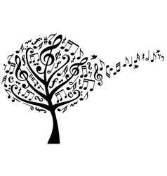 music tree with notes vector image