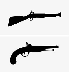 old guns vector image