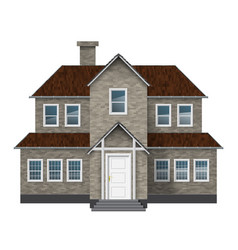 Old style house vector