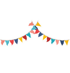 Party garland hanging isolated icon vector