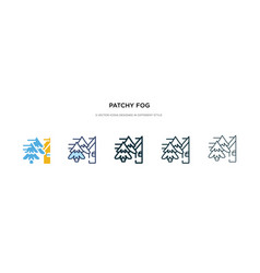 Patchy fog icon in different style two colored vector