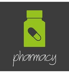 Pharmacy pills design banner and background eps10 vector