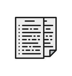 Pile documents report declaration flat color vector
