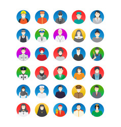 Professional avatar with wearing mask isolated ve vector