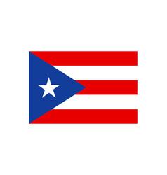 puerto rican flag vector image