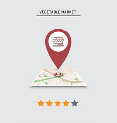 rating cafe restaurant shop store pin on the vector image