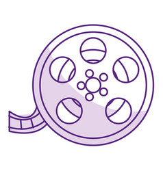Reel cinema isolated icon vector