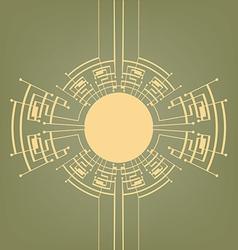 Retro Art Deco stylized background vector