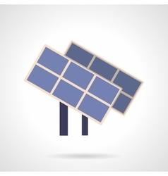 Saving energy flat color icon Solar panels vector image