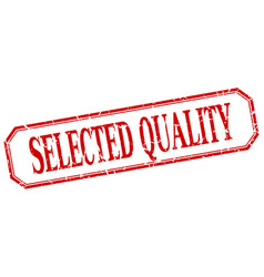 Selected quality vector