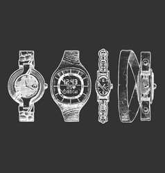 set womens watches vector image