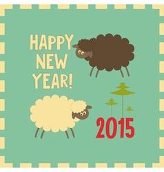 sheeps vector image