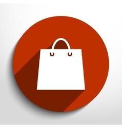 Shopping basket web flat icon vector