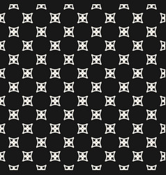 Simple geometric floral seamless pattern abstract vector