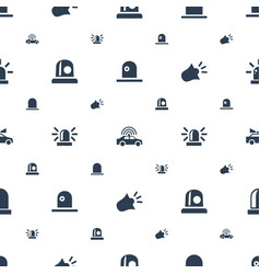 Siren icons pattern seamless white background vector