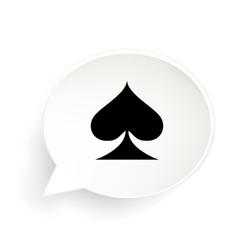 Spades Speech Bubble vector image