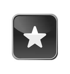 star icon on a square button vector image
