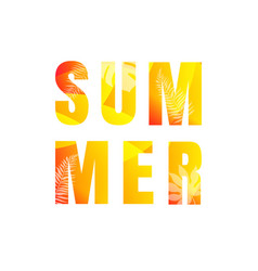 summer text isolated white background vector image