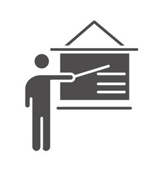 teach school and education tutorial presentation vector image