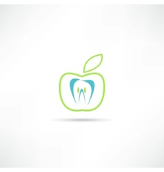 teeth icon vector image