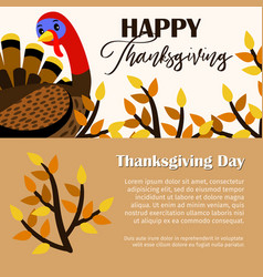 thanksgiving day banners vector image