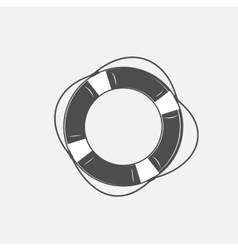 the lifebuoy in black and vector image