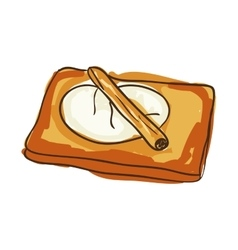 Toast bakery food vector