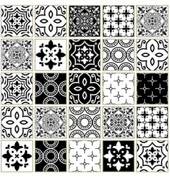 Veector navy blue tiles pattern azulejos vector