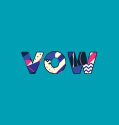 Vow concept word art vector
