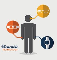 Wearable design vector