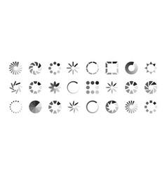 web loading icons load indicators isolated vector image