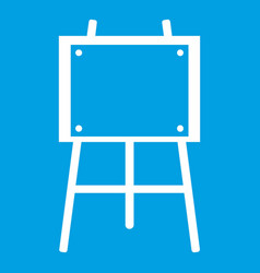 Wooden easel icon white vector