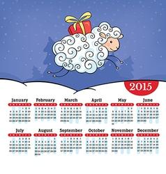Year of the sheep calendar vector