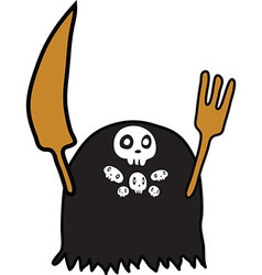 Evil spirit eater Eato cartoon funny vector image vector image