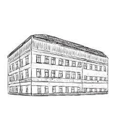 Hand drawn doodle house vector image