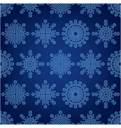 seamless pattern of snowflakes on a dark backgroun vector image